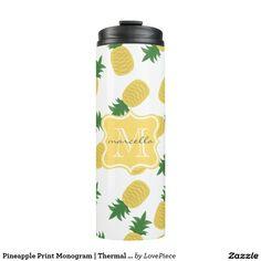 Pineapple Print Monogram | Thermal Tumbler