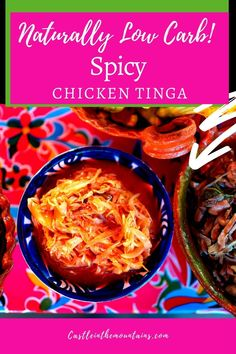 Fiery Low Carb Chicken Tinga - Takes Your Tacos Up a Notch. This fiery sauce will spice up your chicken to make the tastiest low carb tacos ever. You can keep this sauce in the fridge for up to three days and it freezes really well for quick weeknight meals. Low Carb Enchiladas, Low Carb Tacos, Chicken Tinga Recipe, Make Shredded Chicken, Keto On A Budget, Low Carb Tortillas, Quick Weeknight Meals, Gordon Ramsay, Jamie Oliver