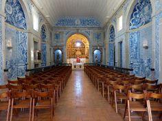 Tiles, Azulejos at Sesimbra Church, Portugal