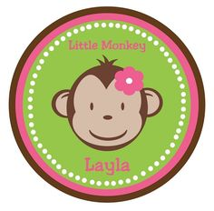 Personalized Monkey Face TShirt or Onesie