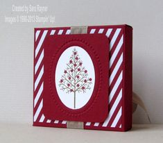 Tutorial – how to create a mini card box with the Envelope Punchboard | Sara's crafting and stamping studio