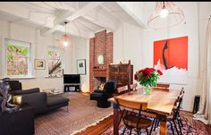 Lounge Room of Art Deco Apartment in South Yarra Melbourne