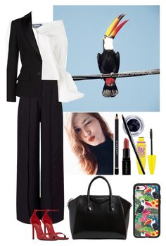 """Birds."" by annacastrolima ❤ liked on Polyvore featuring TEM, Miss Selfridge, Jacquemus, Alexander McQueen, Yves Saint Laurent, Givenchy, Maybelline, Smashbox, Casetify and chic"