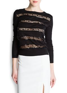 Lace trimmed jumper