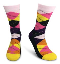 Fun Selection of Socks in Bold, Bright, Colorful Patterns. ***** RATED, Make your sole happy with these amazing socks. Groomsmen Socks, Argyle Socks, Dress Socks, Color Patterns, Fashion Dresses, Pairs, Yellow, Style, Wedding