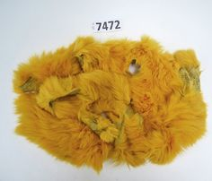 Rabbit Fur Scraps, Real Fur Pieces, Real Fur Pieces, Fur Offcuts for Craft and Sewing Project, Genuine Fur Cuts, Fur Trim, Yellow Rabbit Fur