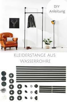 Wardrobe Rack, Diy Blog, Furniture, Retro Design, Home Decor, Dresser Remodel, Diy Clothes Rail, Industrial Bedroom Furniture, Creative Design