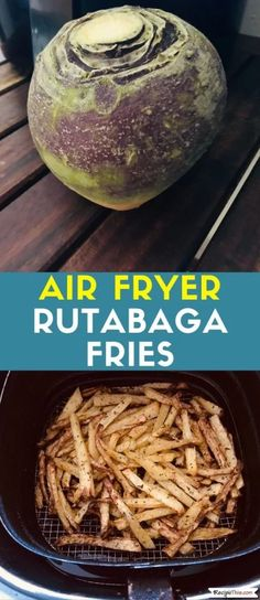 clean eating results Air Fryer Rutabaga Fries- Air Fryer Rutabaga Fries. How to cook delicious Paleo rutabaga fries in the air fryer. So easy to make and the end result is tasty Air Fryer Recipes Breakfast, Air Fryer Recipes Easy, Turnip Fries, Rutabaga Recipes, Paleo Recipes, Cooking Recipes, Oven Recipes, Cooking Food, Cooking Tips