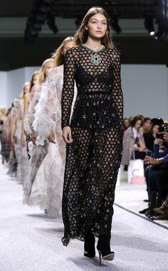 Fashion Week 2016: Celebrity Photos from Paris, London and Milan - Gigi Hadid in the Giambattista Valli show
