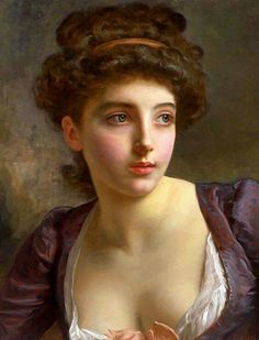 """""""A Court Beauty"""" - Gustave Jean Jacquet (French, 1846–1909)"""