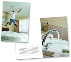 Playing off the hospitality theme, a sales brochure introducing Vantis was designed for hotel managers—primary buyers of Vantis' booking engine. Hospitality, Sink, Engineering, Design, Home Decor, Homemade Home Decor, Vessel Sink, Sink Tops, Electrical Engineering