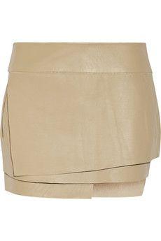 Helmut Lang Wrap-effect leather mini skirt | NET-A-PORTER