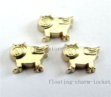 10pcs  flying pig Floating Charms lot For Memory Floating Charms Lockets FC518