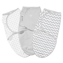 Summer Infant SwaddleMe- Couverture-sac originale- Petite - Ensemble de3 - Chevrons et étoiles