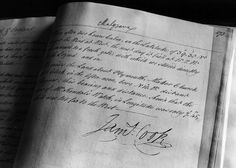 page from Captain James Cook'd journal