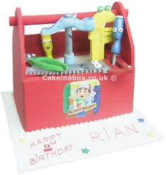 Handy Manny Toolbox Cake