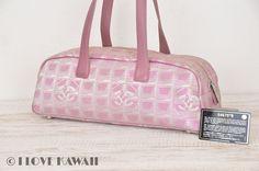 CHANEL Pink New Travel Line Mini Boston Hand Bag A15828