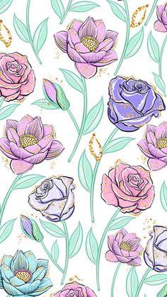 wallpaper i education my - Education Vintage Flowers Wallpaper, Flowery Wallpaper, Flower Phone Wallpaper, Pattern Wallpaper, Wallpaper Backgrounds, Iphone Wallpaper, Fairy Wallpaper, Scrapbook Background, Whatsapp Wallpaper