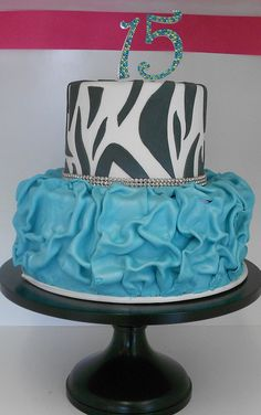 Thinking a cake for Jill's bachelorette but pink instead of blue
