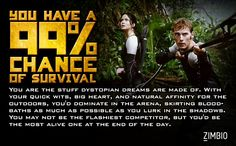 Wow, I actually got a 99% chance of survival! Take the quiz to see how you would do!