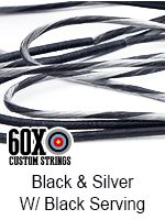 black and silver with black serving custom bow string color
