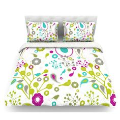 East Urban Home Bird Fantasy by Nicole Ketchum Featherweight Duvet Cover Size: