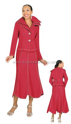 Devine Denim 95572 Red Womens Denim Suit