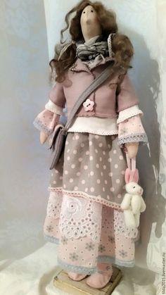 Куклы Тильды ручной работы. Заказать Тильда в стиле бохо. K.Larissa. Ярмарка Мастеров. Кукла Тильда, бязь тонированная