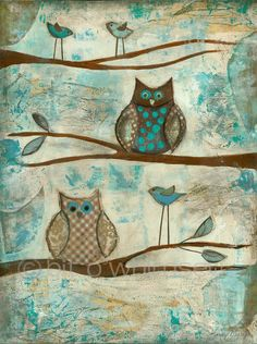 This is for you Candy!  Owls....8x10...print