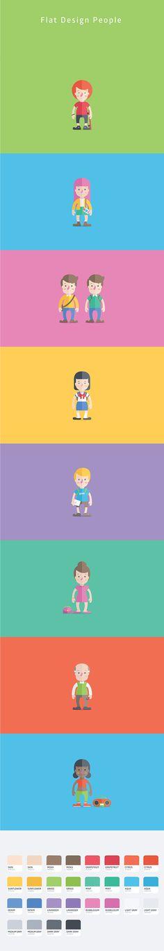 Flat Design People (Free) on https://www.facebook.com/oswaldoloretoart https://www.behance.net/oswaldoloreto