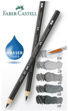 Faber-Castell Water Soluble Graphite Pencils NEED YOU NAAAAOOOO Pastel Pencils, Coloured Pencils, Watercolor Pencils, Prismacolor, Art Sketches, Art Drawings, Types Of Pencils, Basic Drawing, Graphite Drawings