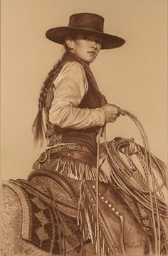 "In theTraditions of Her Father ........by Carrie L Ballantyne Giclee Print ~ 18"" x 12"""