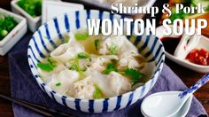 How To Make Shrimp and Pork Wonton Soup (Recipe)  海老と豚肉のワンタンスープの作り方 (レシピ)