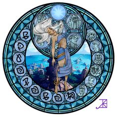 Kida's Stained Glass Window by ~Akili-Amethyst on deviantART