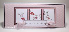 Handmade Cards - Florals / Love this! So feminine!