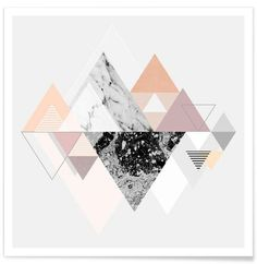 [Inspirations du Studio] - Mise en scène graphique autre de triangles #graphic #design #colors