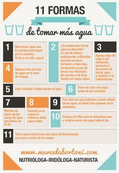 11 formas de tomar más agua