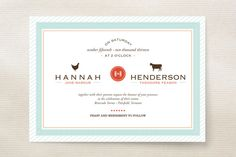 This is really cute, I like this one!  Boy Meets Girl Wedding Invitations by That Girl Pr... | Minted