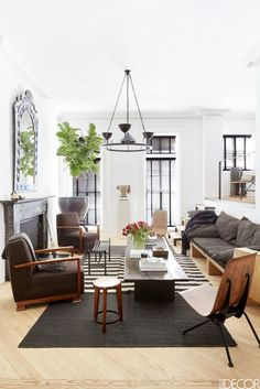 An NYC apartment with a laid back California vibe by L.A.-based designers Waldo Fernandez and Tommy Clements