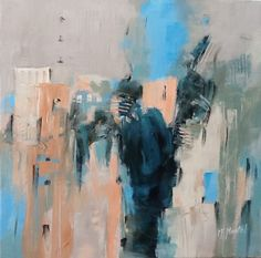 Peinture abstraite sur toile et sur papier - pastels, acrylique, huile, divers -