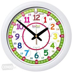 Easyread Time Teacher Children's Wall Clock Showing 12 & 24 Hour (digital) Ti. Teaching Clock, Teaching Aids, Teaching Methods, Learning Resources, Learning Time, Led Wall Clock, Wall Clocks, How To Make Wall Clock, Classroom Walls