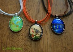Celtic Mommy: How to make custom oval necklaces