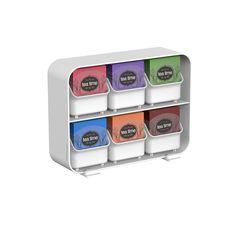 Tea Bag Storage Box Display Organizer Condiment Chest Holder Compartment White #MindReader