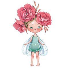 Découvrez le superbe sticker fée Bertille d'Emmanuelle Colin et faite de la chambre de votre petite fille, un endroit délicieux et poétique.