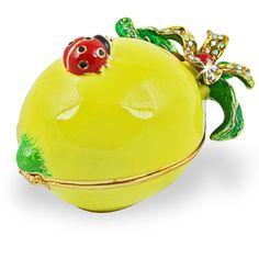 Objet d'art 'Squeeze Lemon With Lady Bug' Trinket Box | Overstock.com