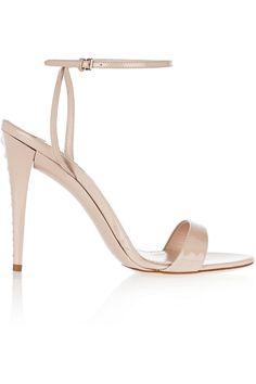 b46d0b6fc57695 Miu Miu - Swarovski crystal-embellished patent-leather sandals