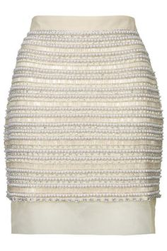 TOPSHOP Limited Edition Diamante Pearl Skirt