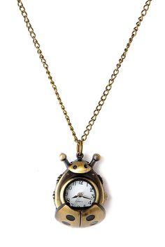 #Antique #Ladybug Pendant #Pocket #Watch - OASAP.com