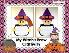 My Witch's Brew Craftivity that includes patterns and directions for copying and tracing by hand. Halloween Letters, Halloween Crafts For Kids, Halloween Activities, Craft Activities, Halloween Themes, Halloween Fun, Easy Writing, Student Drawing, Witches Brew