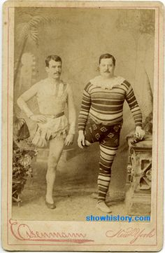 """The One-Legged Performers""  In earlier times, it was not easy for people who had lost limbs or had some type of  ""deformity"" to find work. Circus and carnival acts were often best."